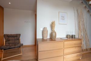 Lobbyen eller receptionen på Casas da Pescaria A