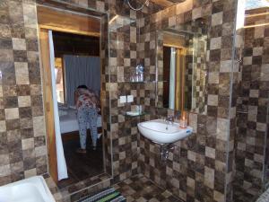 A bathroom at Green Bowl Beach Villas