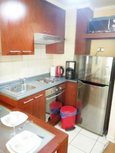 Una cocina o zona de cocina en Amunategui Apart 10