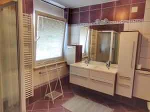 A bathroom at Apartma Pina