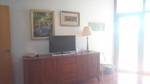 A television and/or entertainment center at Apartamentos Torre de la Roca