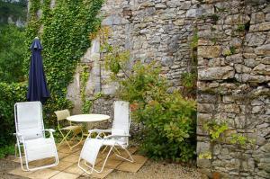 Terrasse ou espace extérieur de l'établissement Quercy Stone Gite Marcilhac