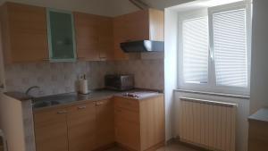 A kitchen or kitchenette at Apartment & Cottage Paliska