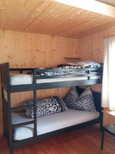 A bunk bed or bunk beds in a room at Schneeflucht