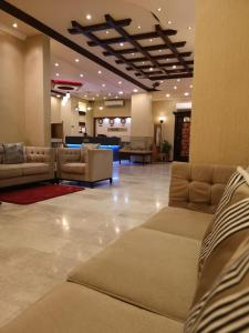 The lobby or reception area at Bahla Hotel Apartments