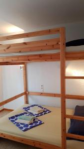 A bunk bed or bunk beds in a room at 010 Segre casa con piscina y amarre