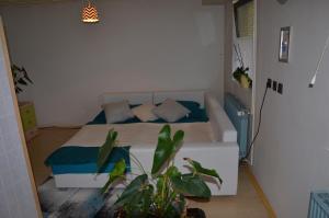 Postelja oz. postelje v sobi nastanitve Apartma Aja