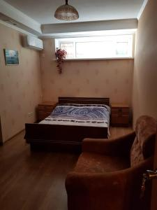 Кровать или кровати в номере Комнаты с 1 человека 400р