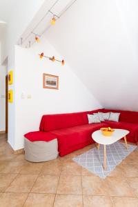 A seating area at Apartments Giuliani