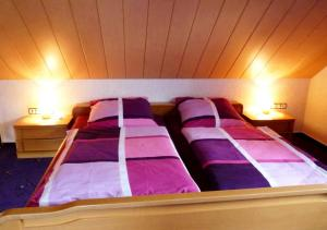 Ein Bett oder Betten in einem Zimmer der Unterkunft Ferienhaus Rothaargebirge