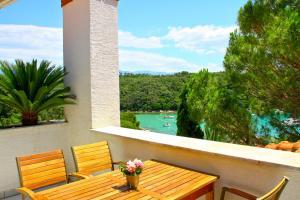 A balcony or terrace at Villa Lucija