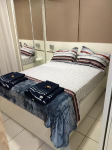 A bed or beds in a room at Espaço Villa Verde