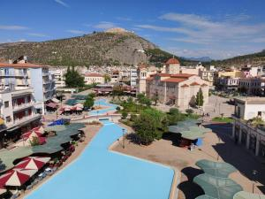 A view of the pool at Lerna Rooms or nearby