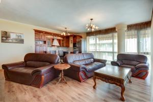 A seating area at Two Bedroom Apartment - Panorama Beach Nesebar