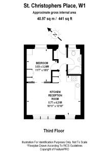 The floor plan of St Christopher's Place apartments