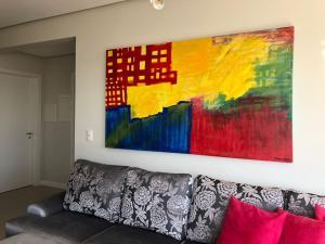 A seating area at Apartamento
