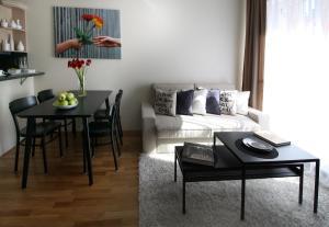 Posezení v ubytování Soul Dance Apartments