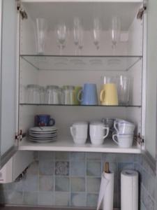 Una cocina o zona de cocina en Ferienwohnung