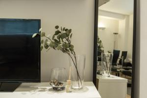 A television and/or entertainment center at Excel Apartments Strand