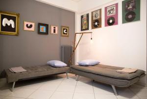Ein Bett oder Betten in einem Zimmer der Unterkunft Stylish Apartment for Couples&Family