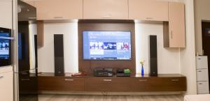A television and/or entertainment center at Pavel's Apartment