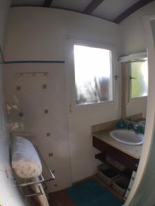 Salle de bains dans l'établissement Villa des Amandiers