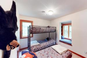 A bunk bed or bunk beds in a room at St. Moritz-House