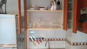 Una cocina o zona de cocina en Decher Apartment - Santiago Centro