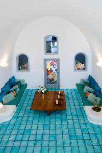 A seating area at Blue Angel Villa - Angel Villas