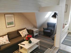 Ein Sitzbereich in der Unterkunft Janinas Loft