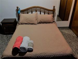 Una cama o camas en una habitación de Departamento céntrico