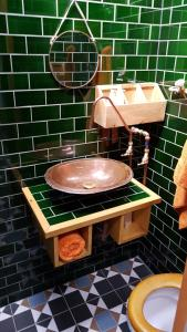 A bathroom at The Bell House