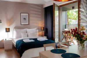 Letto o letti in una camera di Browar Lubicz Residence