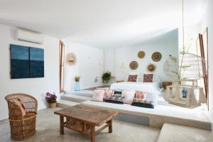 A seating area at Can Tres Formentera