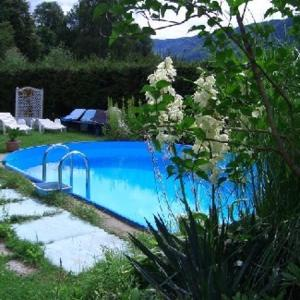 The swimming pool at or near Ferienhaus Seespitz