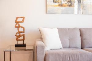 Zona de estar de Alojarent Apoquindo 6445 Apartment