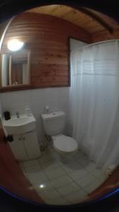 A bathroom at Terrazas del Palena