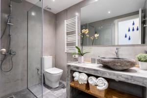 A bathroom at Ancient Agora Apartments