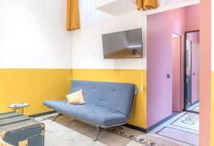 Area soggiorno di monocase milano