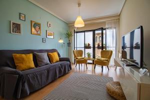 Uma área de estar em La seda stay