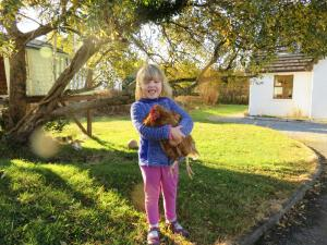 Children staying at Letterfrack Farm Cottage