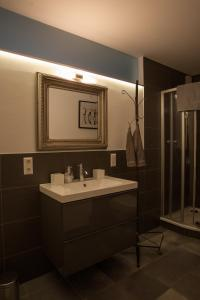 A bathroom at Gästehaus Happy Family