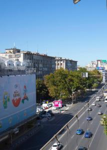 A general view of Bucharest or a view of the city taken from the apartment