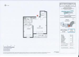 The floor plan of Promenade Gambetta