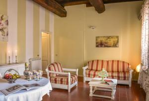 Area soggiorno di Borgo Zelata