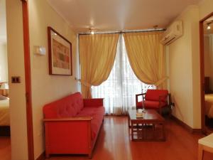 Zona de estar de Andes Suites