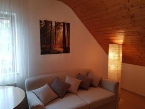 Ein Sitzbereich in der Unterkunft Veronika's Apartment