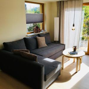 Ein Sitzbereich in der Unterkunft Ferienhaus Ilfeld
