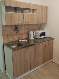 O bucătărie sau chicinetă la Top Location Economy Studio