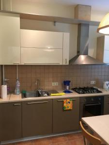 A kitchen or kitchenette at Letniy Sad Apartments
